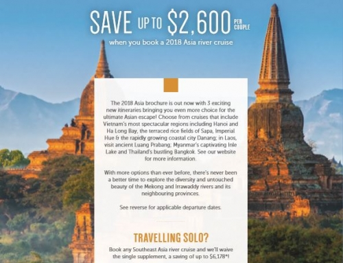 2018 Avalon Waterways | Save up to $2600 per couple when you book a 2018 Asia river cruise