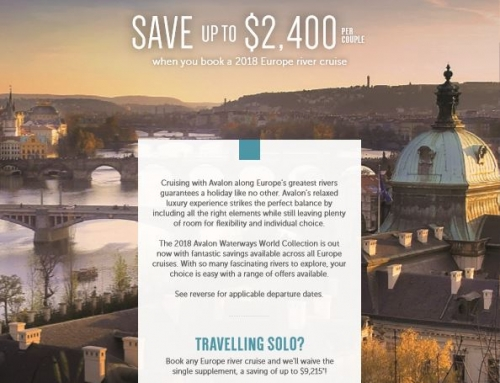 2018 Avalon Waterways | Save up to $2400 per couple when you book a 2018 Europe river cruise