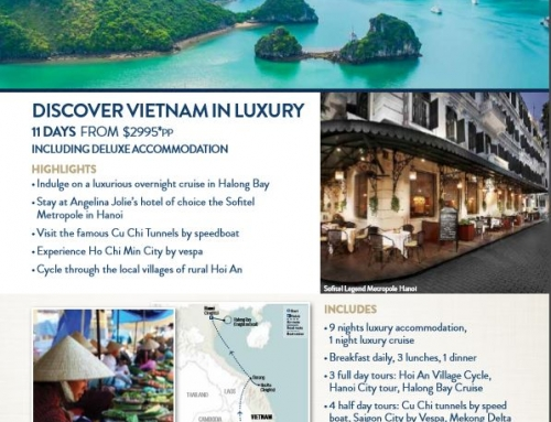 EXPLORE VIETNAM AS SEEN ON CHANNEL TEN'S THE LIVING ROOM