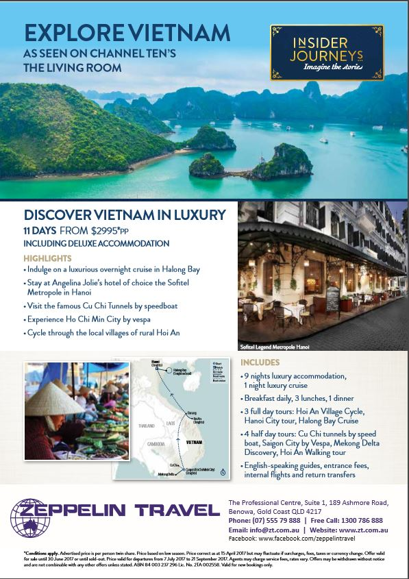 Explore vietnam as seen on channel ten s the living room for The living room channel 10