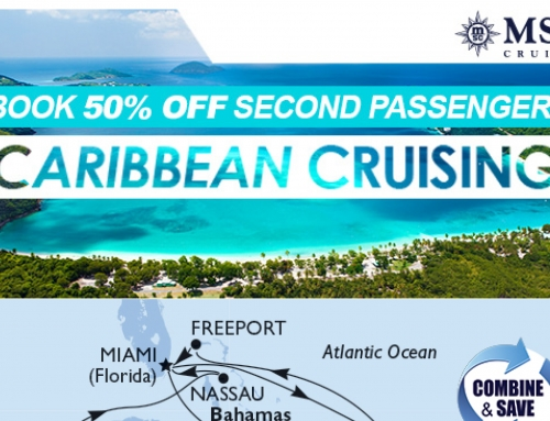 CARIBBEAN CRUISING – BOOK 50% OFF SECOND PASSENGER