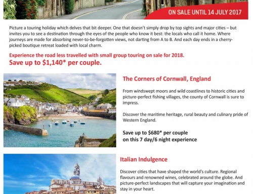 2018 Earlybird Small Group Touring – UK, Ireland, France, Italy & Spain