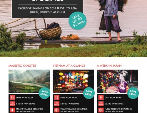 2018 Early Bird Specials – Asia
