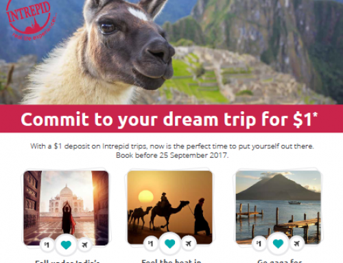 Commit to your dream trip for $1*
