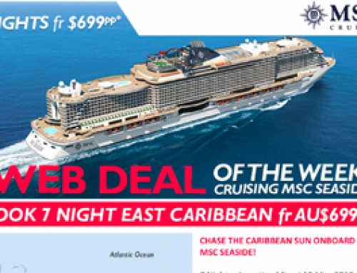 CHASE THE CARIBBEAN SUN ONBOARD MSC SEASIDE!