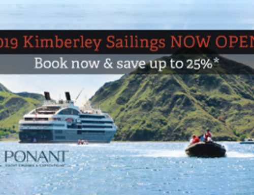 2019 Kimberley Sailings NOW OPEN!