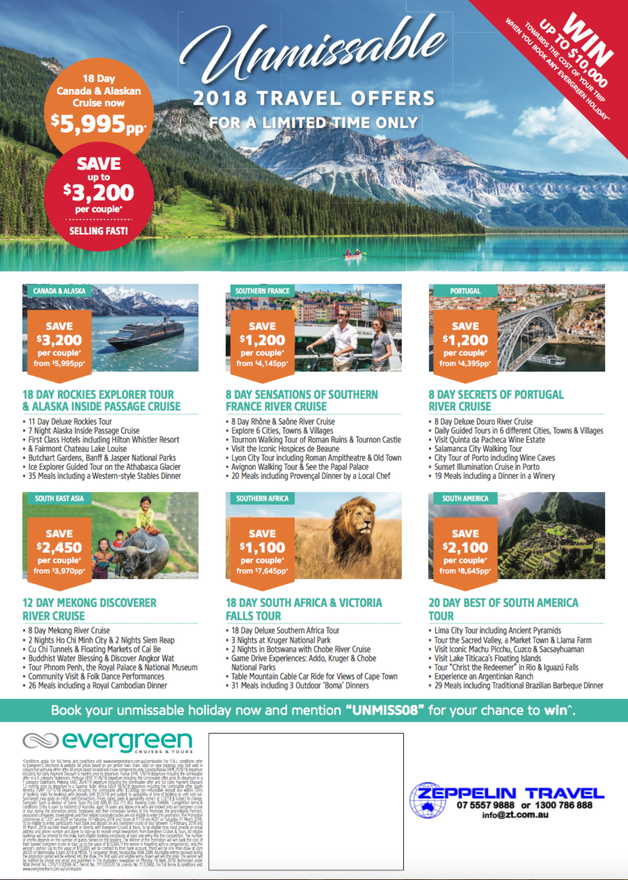 Unmissable 2018 Travel Offers