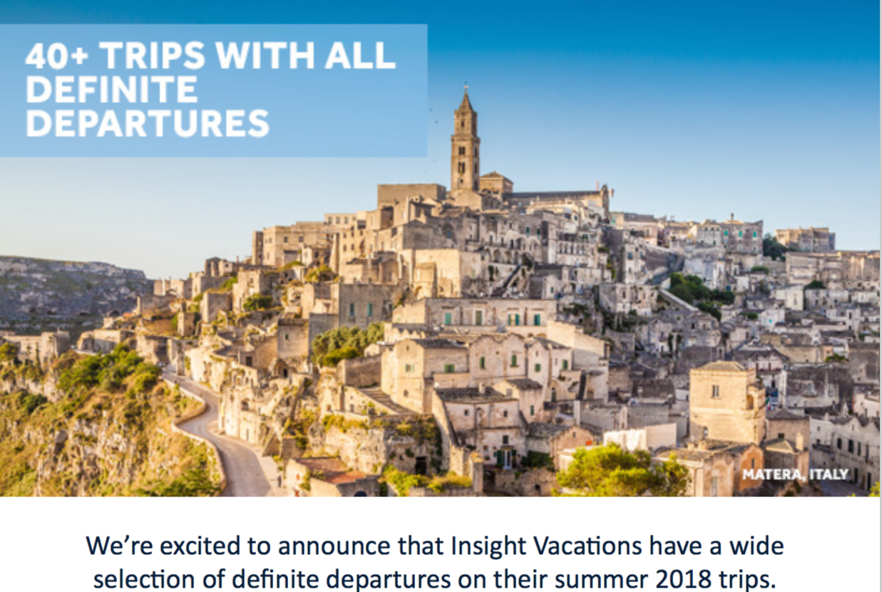 Insight Vacations 40+ trips feature