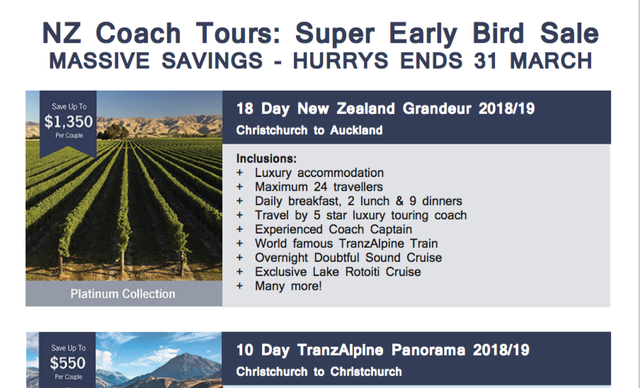 NZ Coach Tours feature