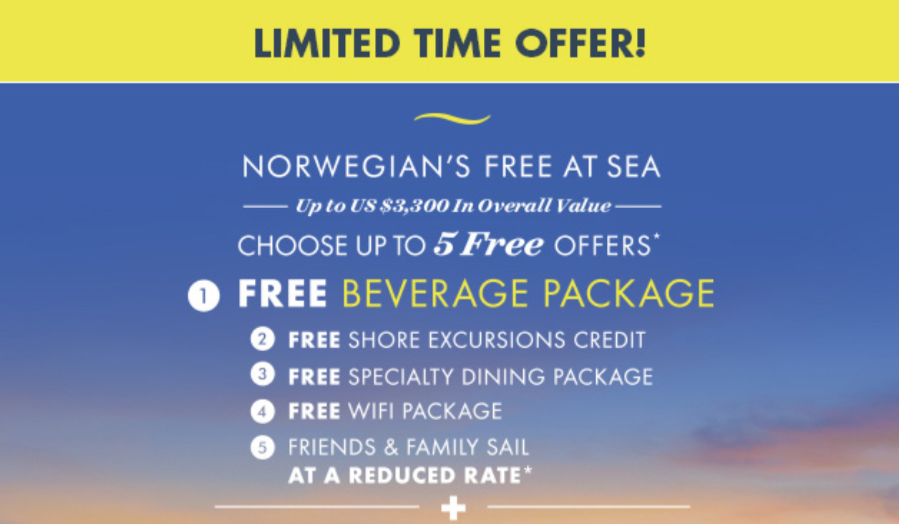 Norwegian's free at sea feature