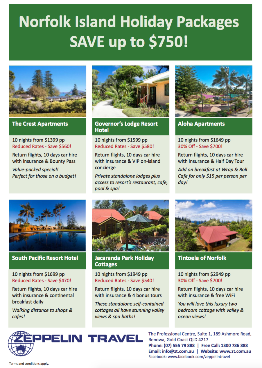 Norfolk Island Holiday Packages
