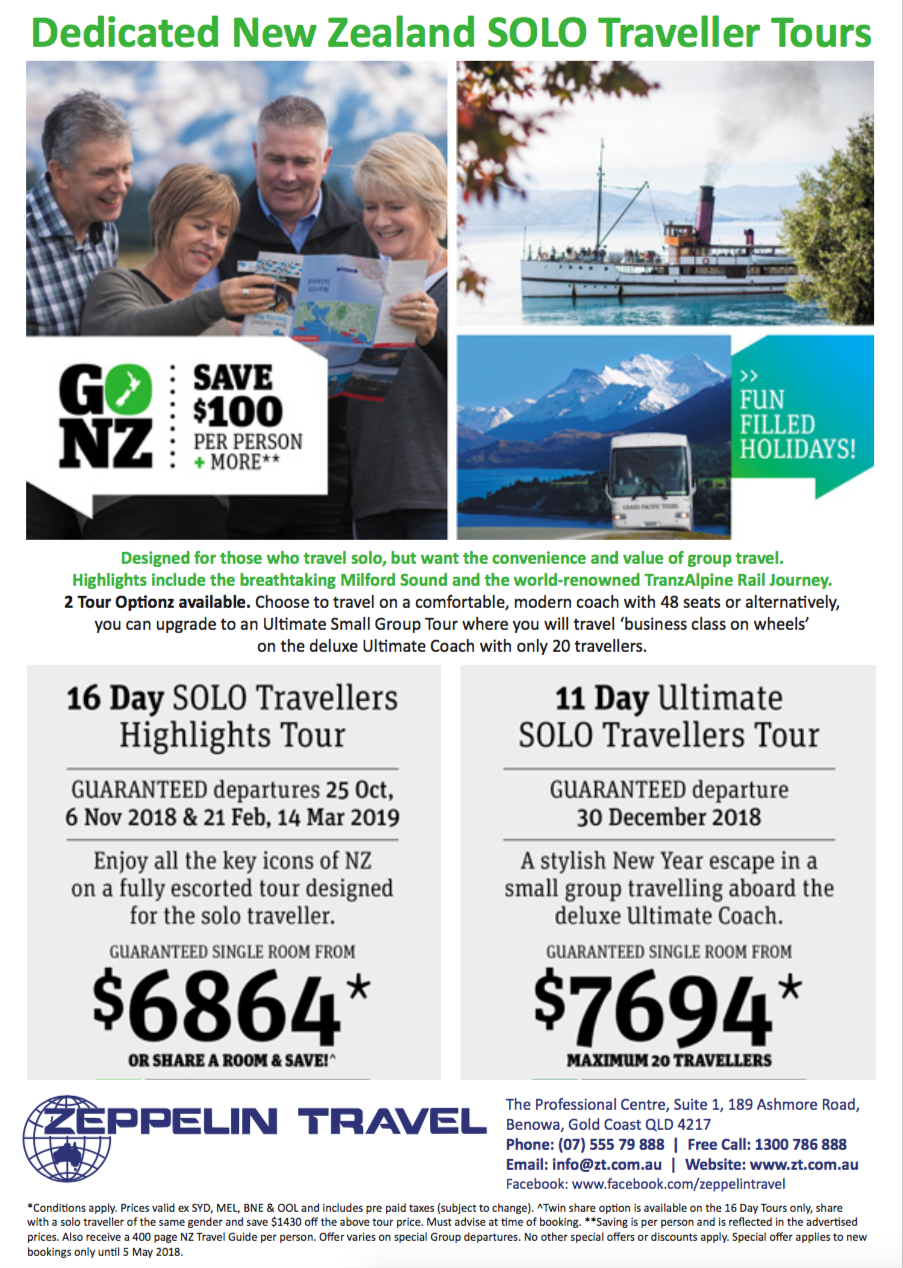 NZ solo traveller tours