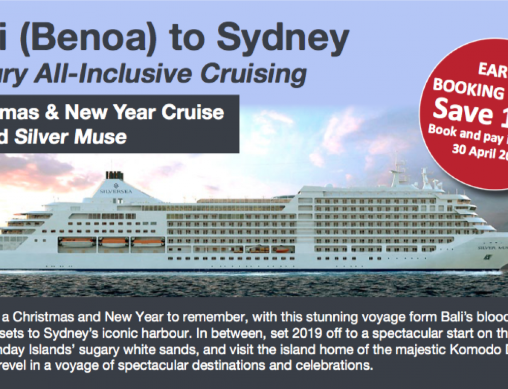 Bali to Sydney Luxury All-Inclusive Christmas and New Years Cruise