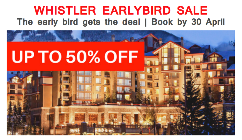 Whistler early bird feature