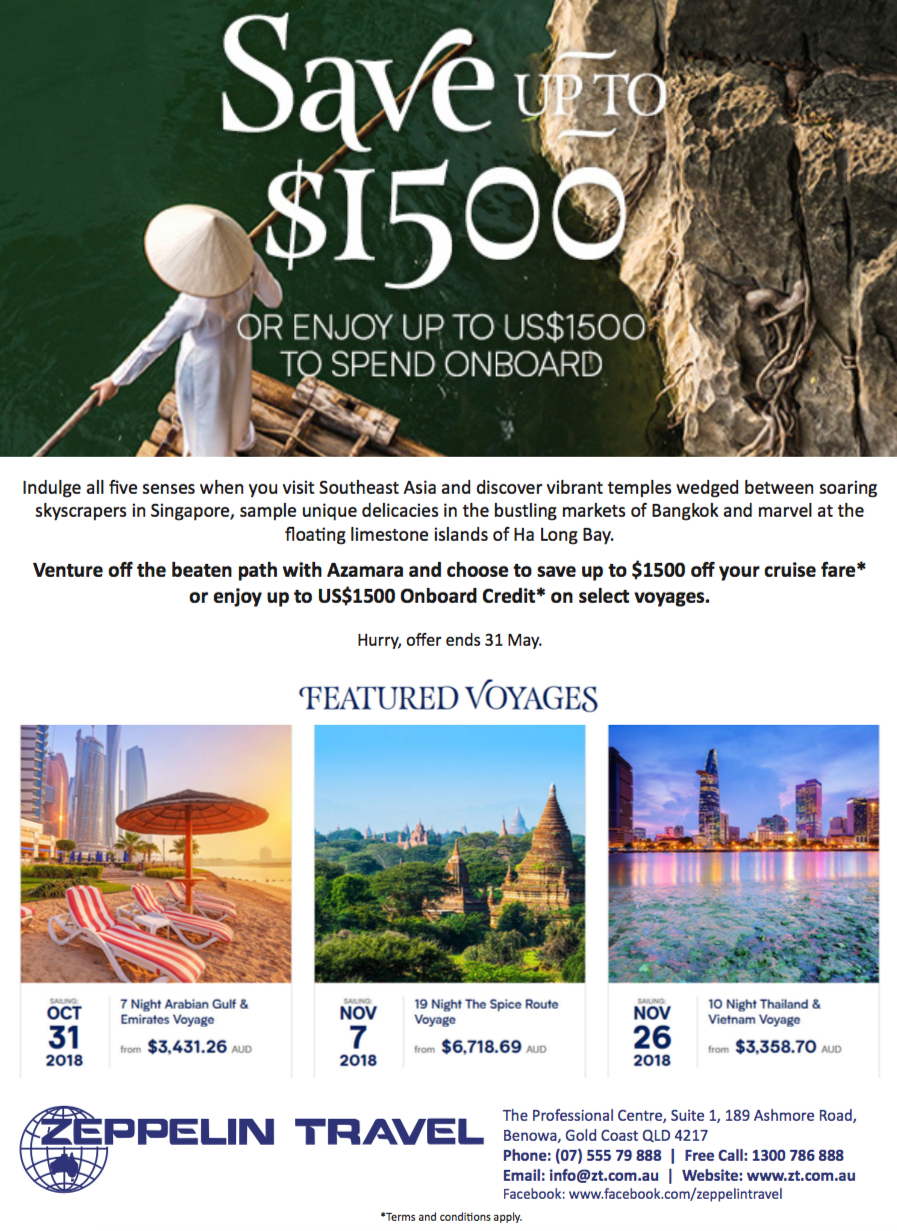 save on featured voyages