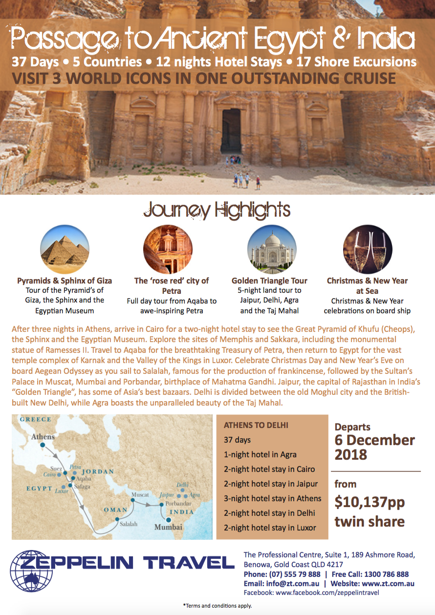Passage to Ancient Egypt and India