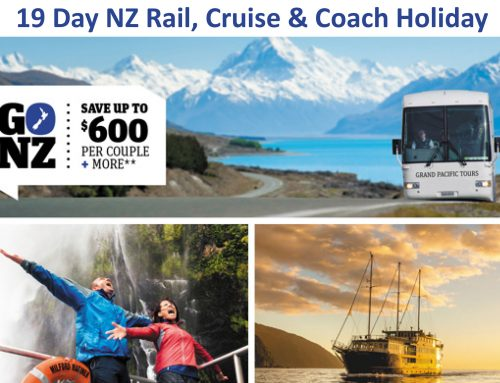 19 Day NZ Rail, Cruise & Coach Holiday