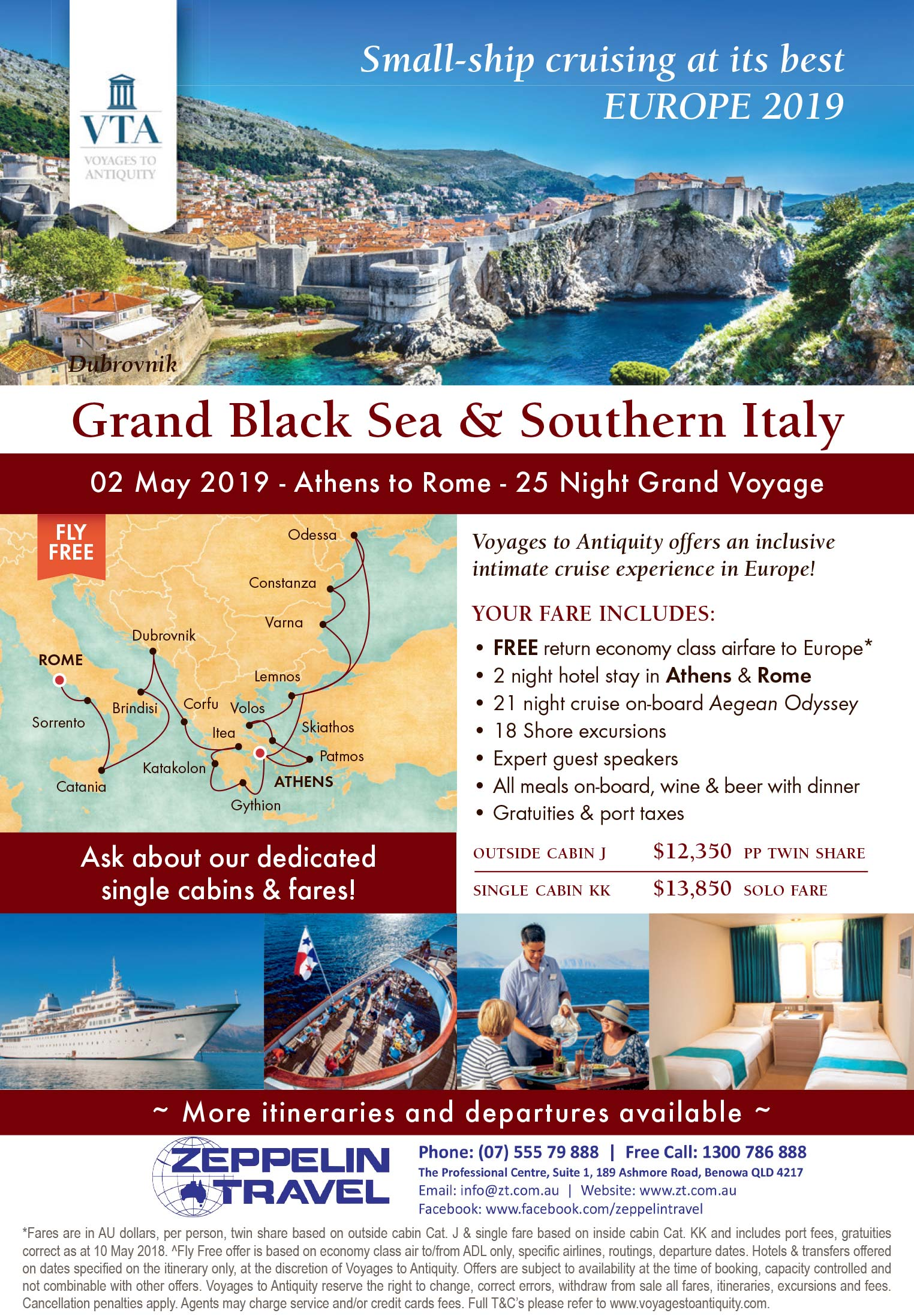 Grand Black Sea Amp Southern Italy Europe 2019 Zeppelintravel