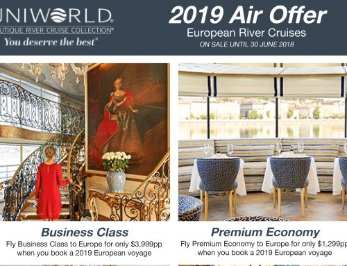 2019 Air Offer European River Cruises ON SALE UNTIL 30 JUNE 2018