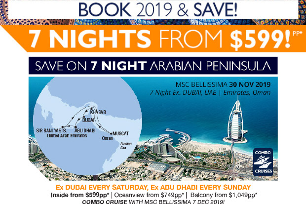 Arabian & India Cruise Supersaver
