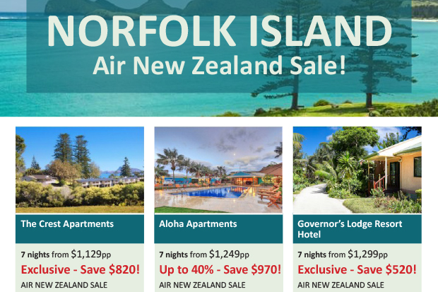 Norfolk Island Air NZ Sale