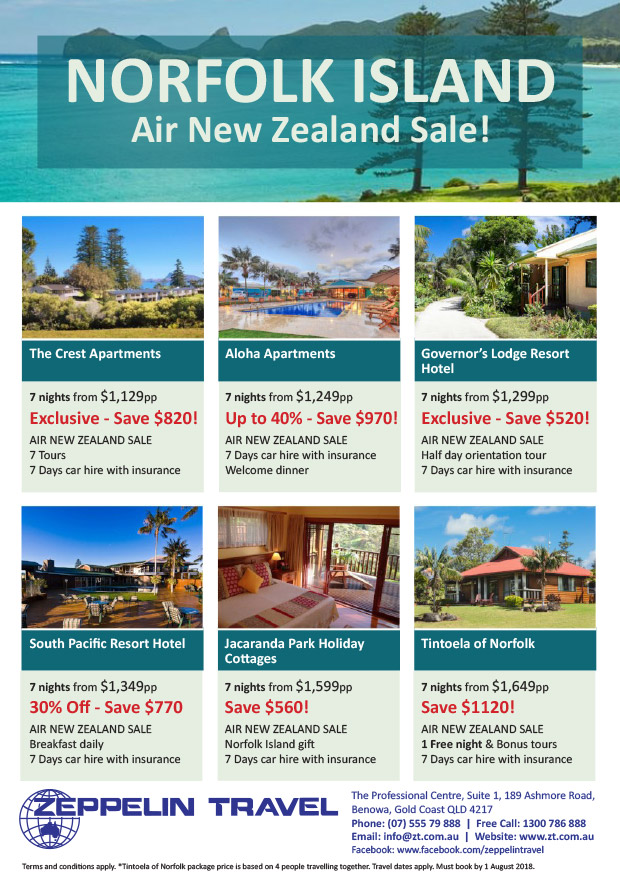 Norfolk Island Package