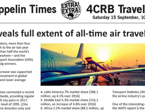 The Zeppelin Times 4CRB Travel Show, Saturday 15 September, 10am on 89.3FM