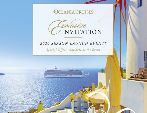 Oceania Cruises 2020 Season Launch Invitation
