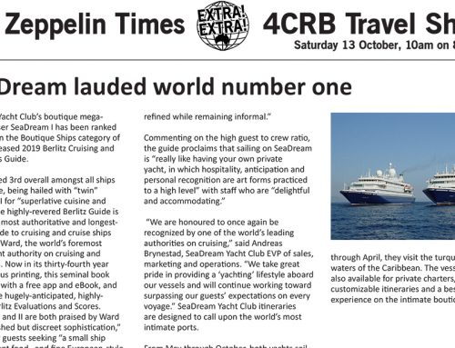 The Zeppelin Times 4CRB Travel Show, Saturday 13 October, 10am on 89.3FM