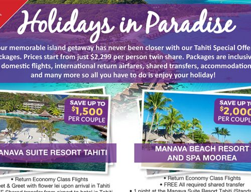 Tahiti Special Offer Packages – Save up to $4000