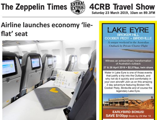 The Zeppelin Times 4CRB Travel Show, Saturday 23 March 2019, 10am on 89.3FM