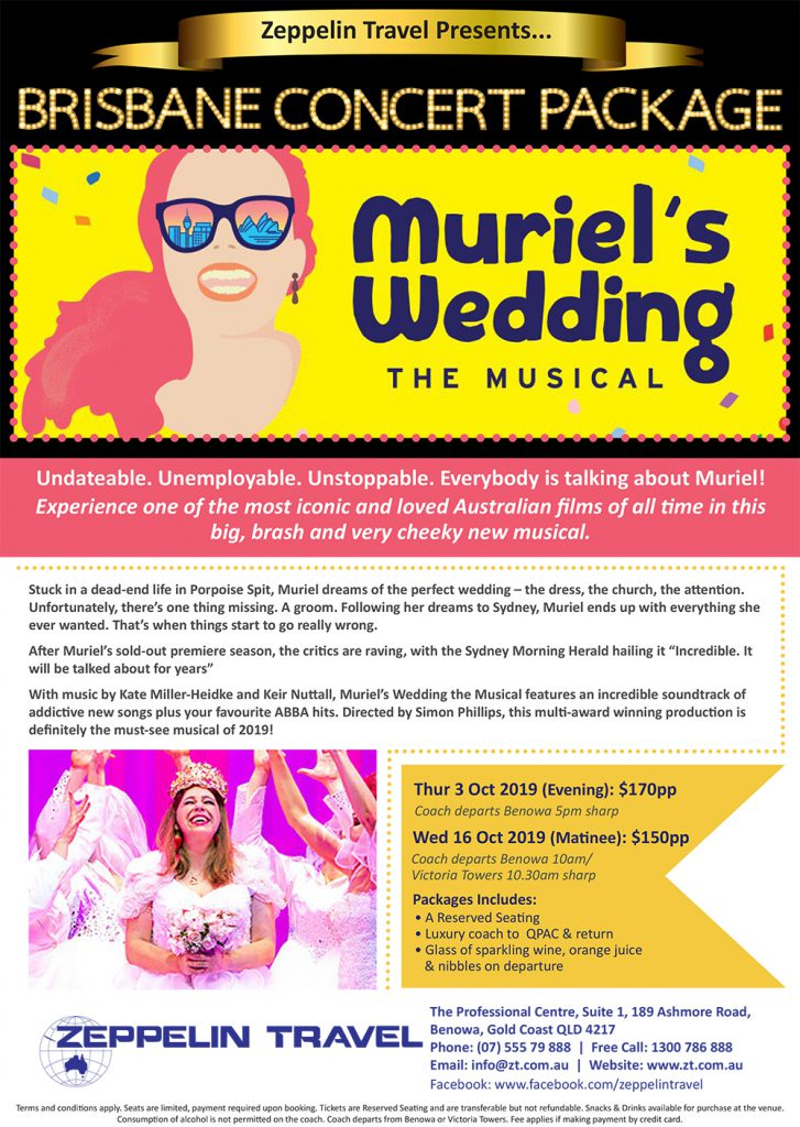 Muriel's Wedding The Musical: Brisbane Concert Package