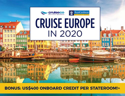 Cruise Europe in 2020: BONUS US$400 Onboard Credit