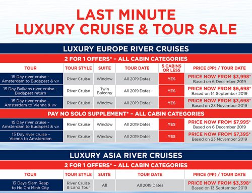 Last Minute Luxury and Premium Cruise/Tour Sale