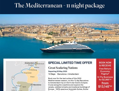 FREE Flights! Mediterranean and Iceland/Greenland Luxury Cruises