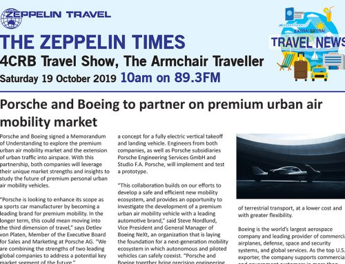 The Zeppelin Times 4CRB Travel Show, Saturday 19 October 2019, 10am on 89.3FM