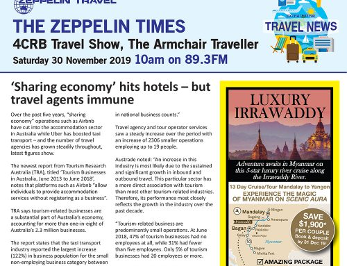 The Zeppelin Times 4CRB Travel Show, Saturday 30 November 2019, 10am on 89.3FM