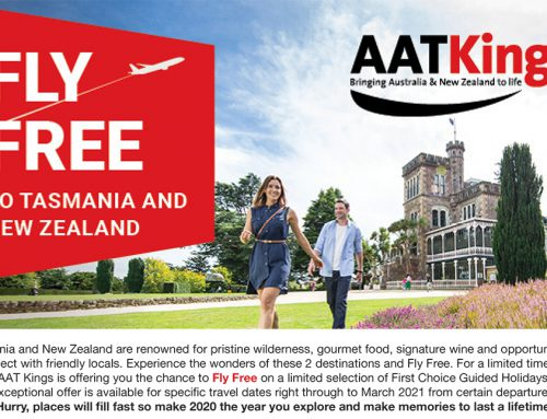 Fly Free to Tasmania or New Zealand