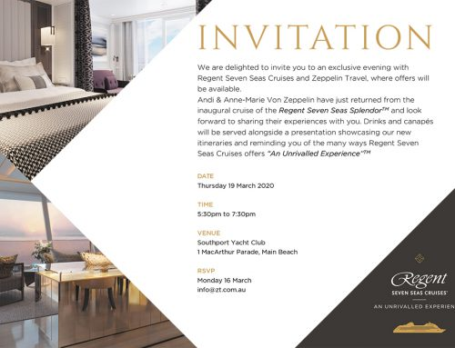 Your Invitation: Exclusive Evening with Regent Seven Seas