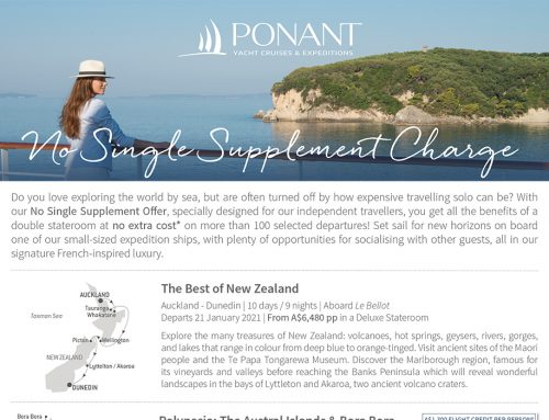 Ponant No Single Supplement