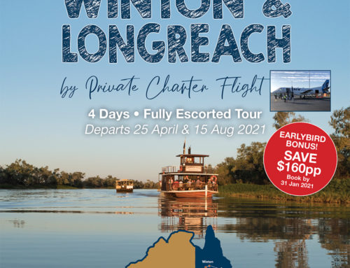 Winton & Longreach by Private Charter Flight 2021